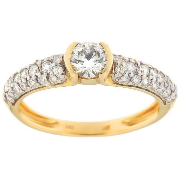 Gold ring with diamonds 0,94 ct. Code: 100an