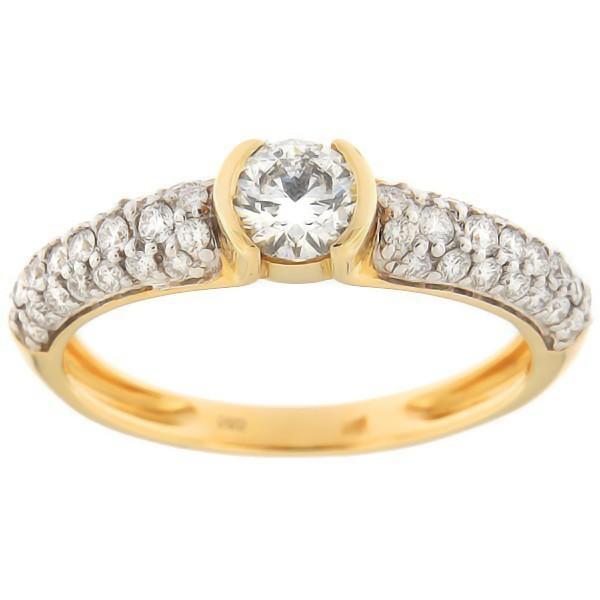 Kullast sõrmus teemantidega 0,94 ct. Kood: 100an