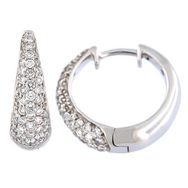 Kullast kõrvarõngad teemantidega 0,71 ct. Kood: 102ag
