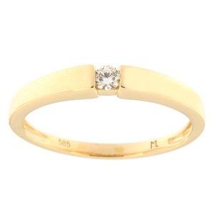 Kullast sõrmus teemantiga 0,07 ct. Kood: 103ak