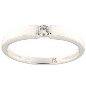 Kullast sõrmus teemantiga 0,09 ct. Kood: 105ak