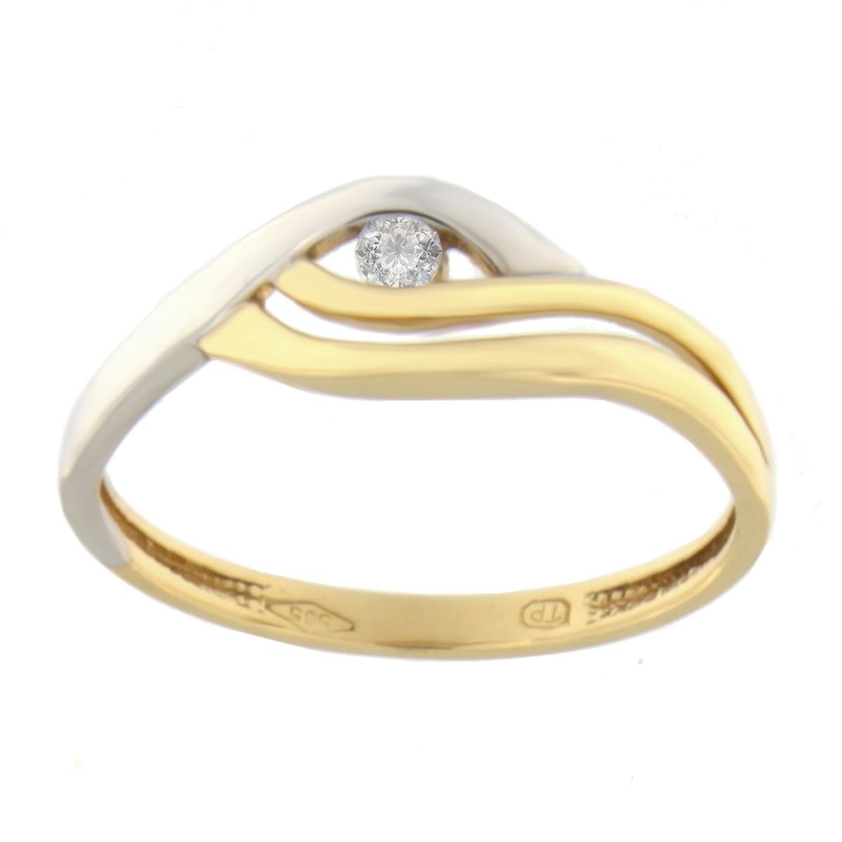 Kullast sõrmus tsirkooniga Kood: 107pt