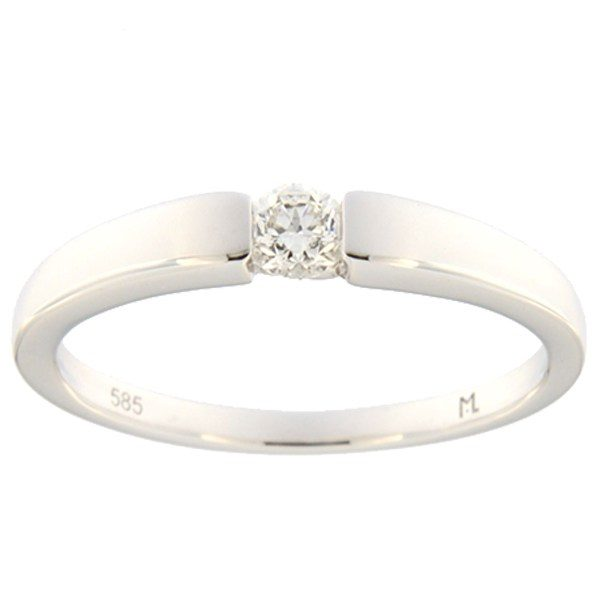 Kullast sõrmus teemantiga 0,14 ct. Kood: 108ak