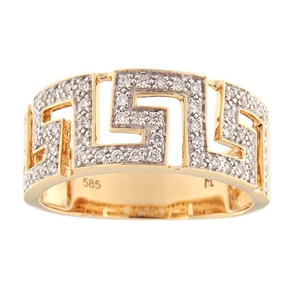 Kullast sõrmus teemantidega 0,23 ct. Kood: 109ak