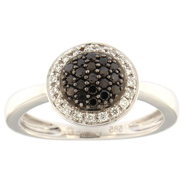 Kullast sõrmus teemantidega 0,25 ct. Kood: 112ax
