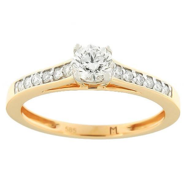Kullast sõrmus teemantidega 0,52 ct. Kood: 115ak