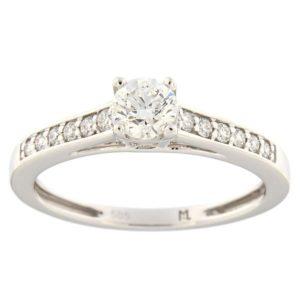 Kullast sõrmus teemantidega 0,53 ct. Kood: 116ak