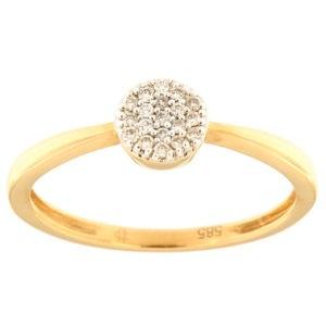 Kullast sõrmus teemantidega 0,08 ct. Kood: 117ax