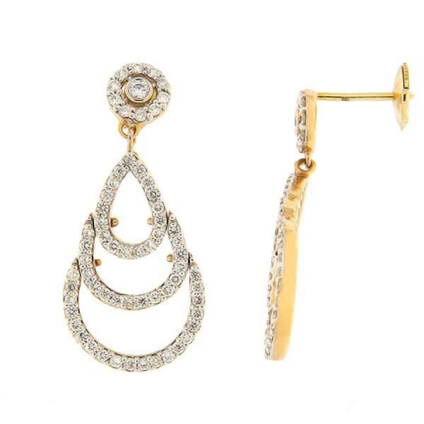 Kullast kõrvarõngad teemantidega 1,03 ct. Kood: 118ag