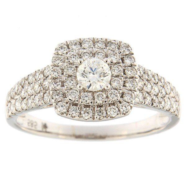 Kullast sõrmus teemantidega 1,00 ct. Kood: 11hk