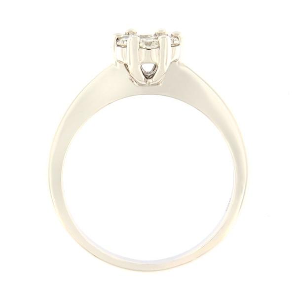 Kullast sõrmus teemantidega 0,34 ct. Kood: 120ak külgvaade