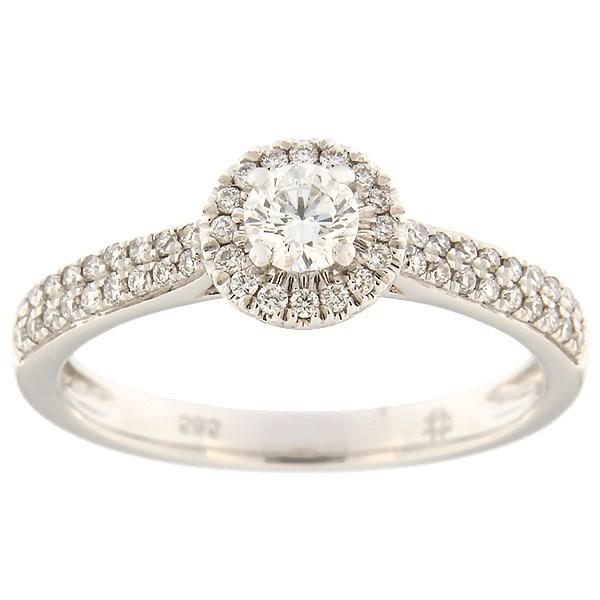 Kullast sõrmus teemantidega 0,39 ct. Kood: 124af