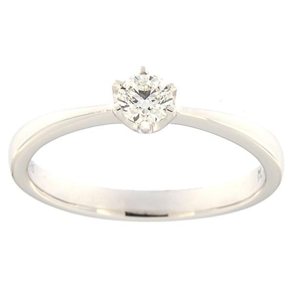 Kullast sõrmus teemantiga 0,23 ct. Kood: 127ak