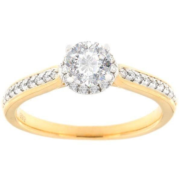 Золотое кольцо с бриллиантами 0,66 ct. Kод: 128af