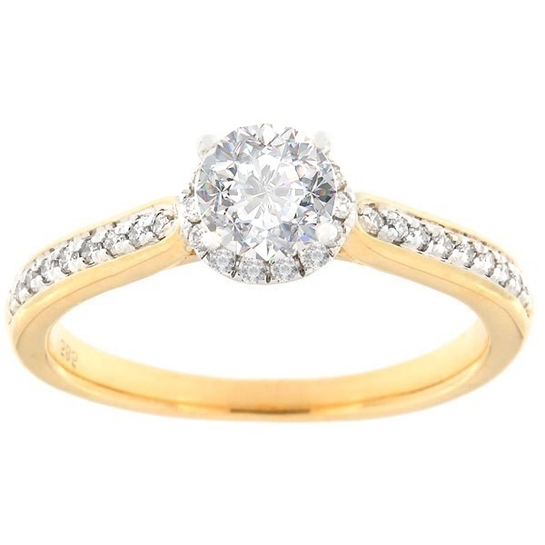 Gold ring with diamonds 0,66 ct. Code: 128af
