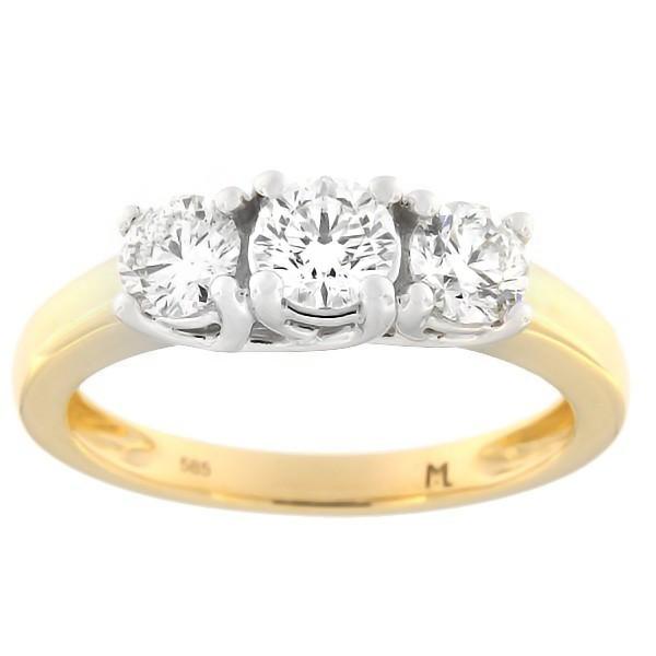 Kullast sõrmus teemantiga 1,00 ct. Kood: 129ak