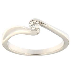 Kullast sõrmus teemantiga 0,09 ct. Kood: 129ax