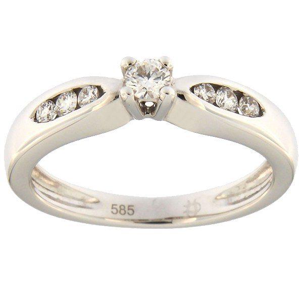 Kullast sõrmus teemantidega 0,20 ct. Kood: 12ax