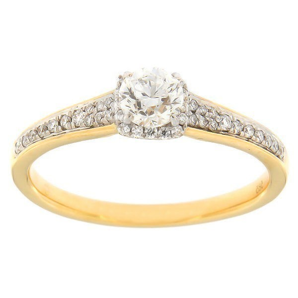 Gold ring with diamonds 0,52 ct. Code: 130af