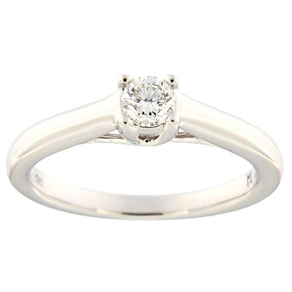 Kullast sõrmus teemantiga 0,23 ct. Kood: 131ak