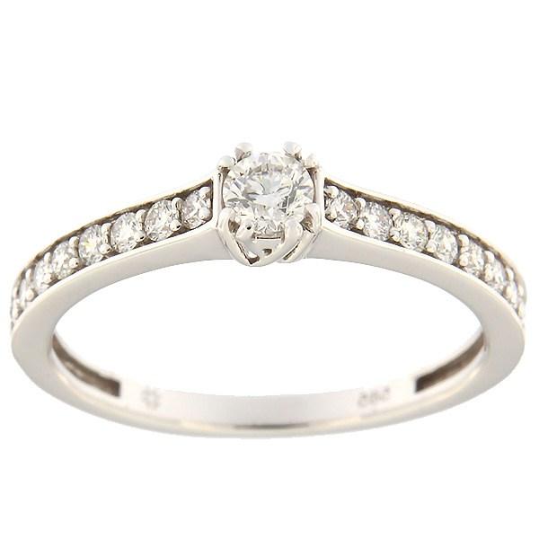 Kullast sõrmus teemantidega 0,46 ct. Kood: 134al
