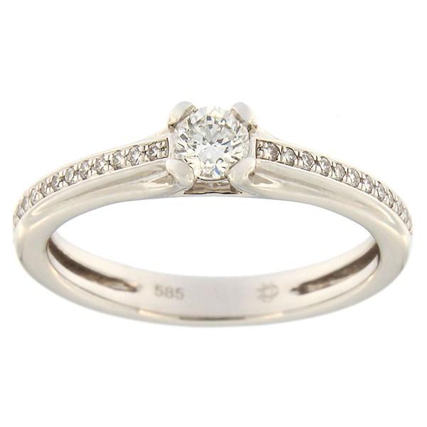Kullast sõrmus teemantidega 0,34 ct. Kood: 135af