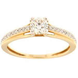 Kullast sõrmus teemantidega 0,51 ct. Kood: 138an
