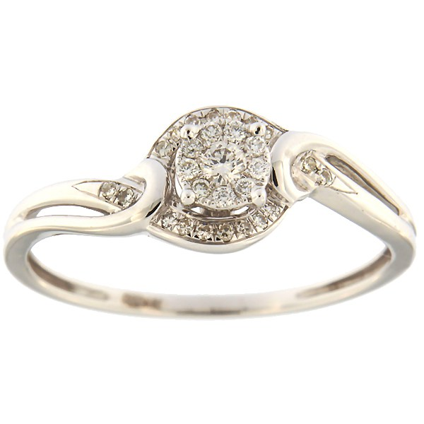 Kullast sõrmus teemantidega 0,15 ct. Kood: 13ha
