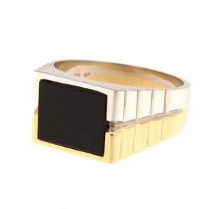 Золотая печатка с ониксом Kод: 1405b