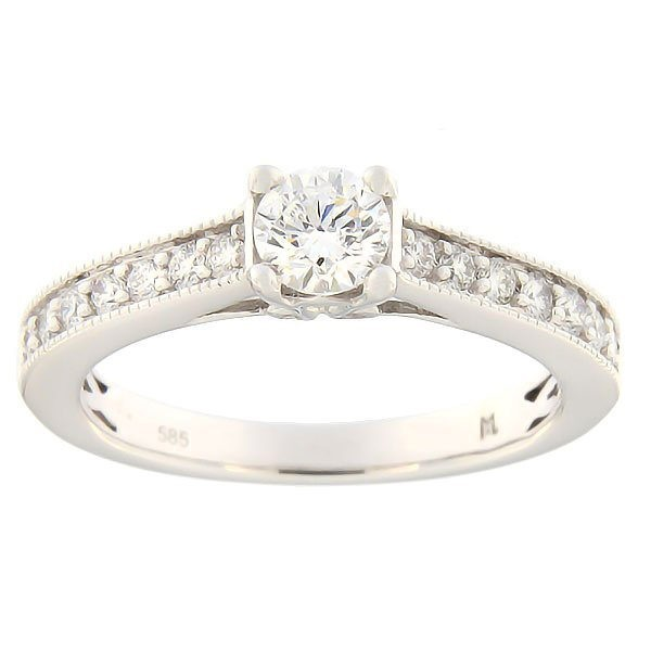 Gold ring with diamonds 0,66 ct. Code: 142ak