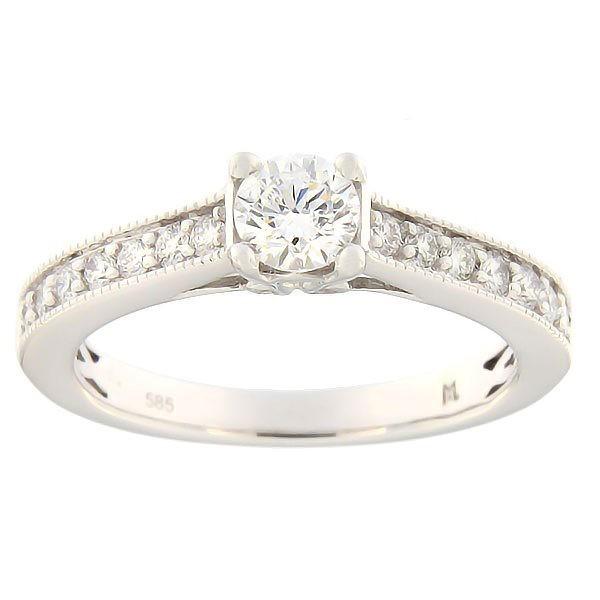 Золотое кольцо с бриллиантами 0,66 ct. Kод: 142ak