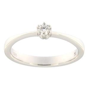 Kullast sõrmus teemantiga 0,09 ct. Kood: 144ak