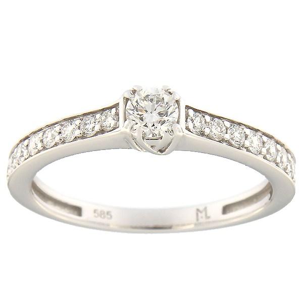 Kullast sõrmus teemantidega 0,47 ct. Kood: 148ak