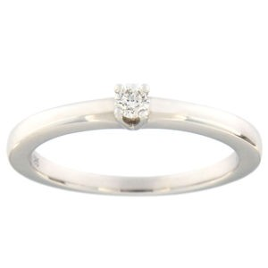 Kullast sõrmus teemantiga 0,10 ct. Kood: 149ax