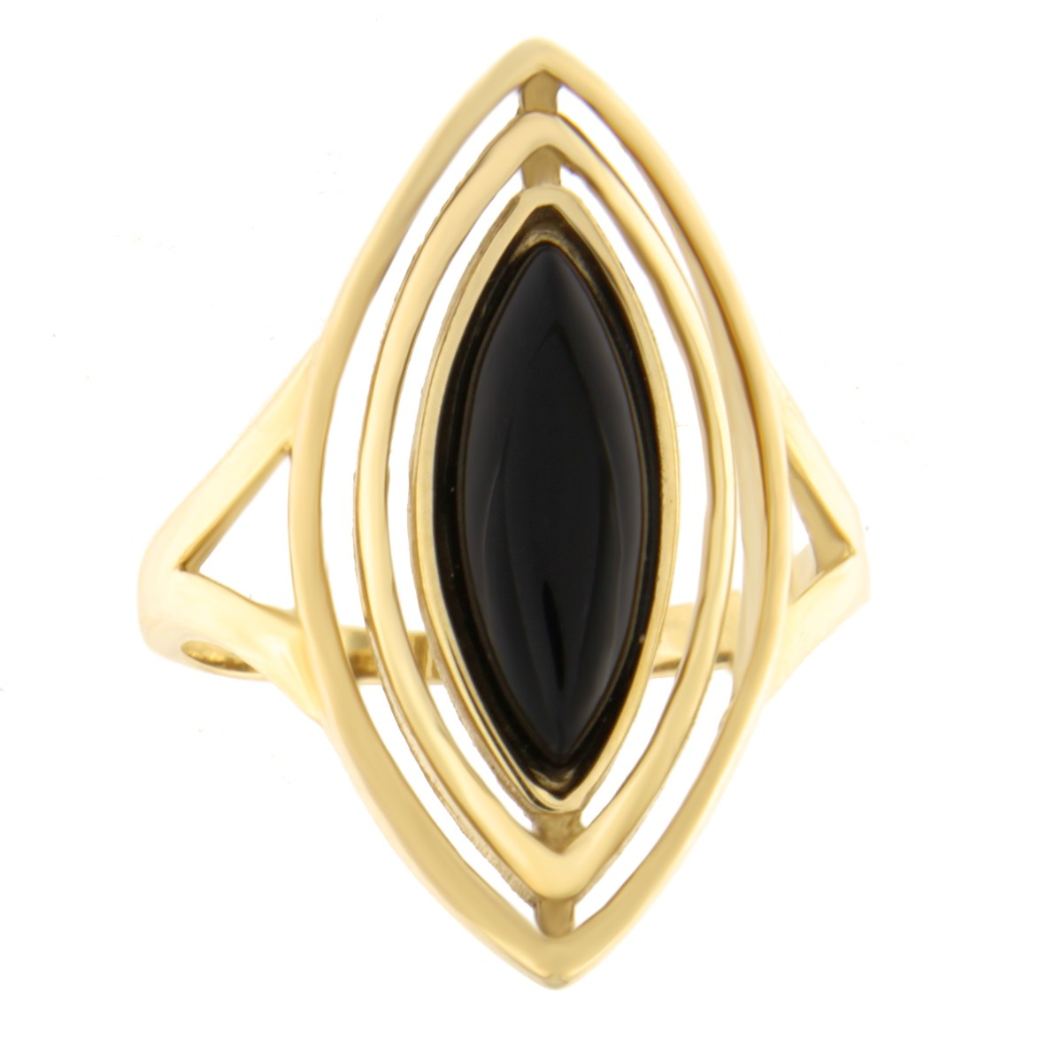 Gold ring with onyx Code: 148pe