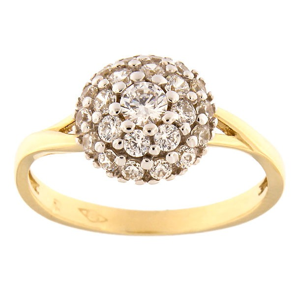 Kullast sõrmus tsirkoonidega Kood: 149pm