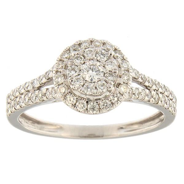 Kullast sõrmus teemantidega 0,60 ct. Kood: 14hk