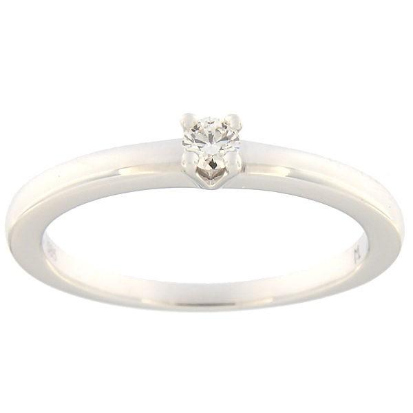 Kullast sõrmus teemantiga 0,09 ct. Kood: 150ak