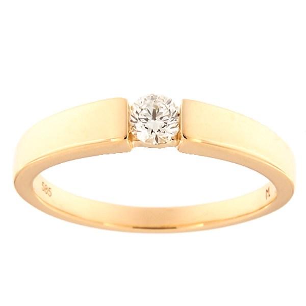 Kullast sõrmus teemantiga 0,20 ct. Kood: 151ak