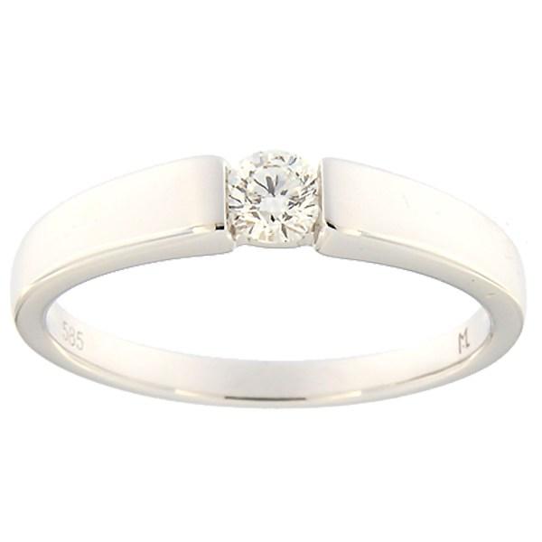 Kullast sõrmus teemantiga 0,18 ct. Kood: 152ak