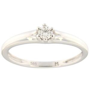 Kullast sõrmus teemantiga 0,10 ct. Kood: 154ak