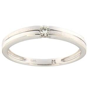 Kullast sõrmus teemantiga 0,07 ct. Kood: 157ak