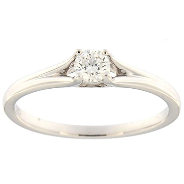 Kullast sõrmus teemantiga 0,18 ct. Kood: 159ak