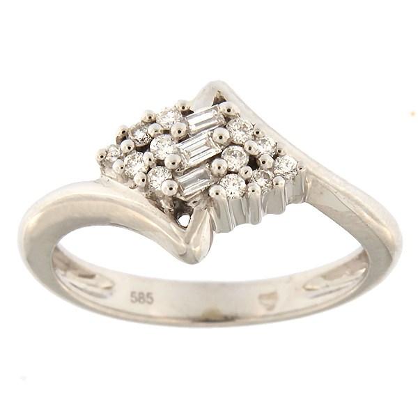 Kullast sõrmus teemantidega 0,17 ct. Kood: 15ae