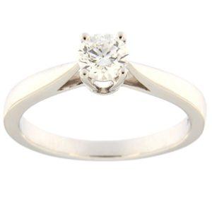 Kullast sõrmus teemantiga 0,40 ct. Kood: 15ha