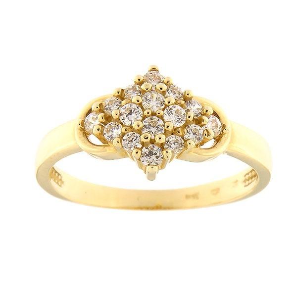 Kullast sõrmus tsirkoonidega Kood: 16pa