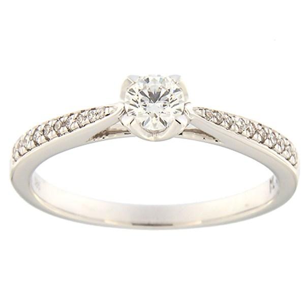 Kullast sõrmus teemantidega 0,31 ct. Kood: 171ak