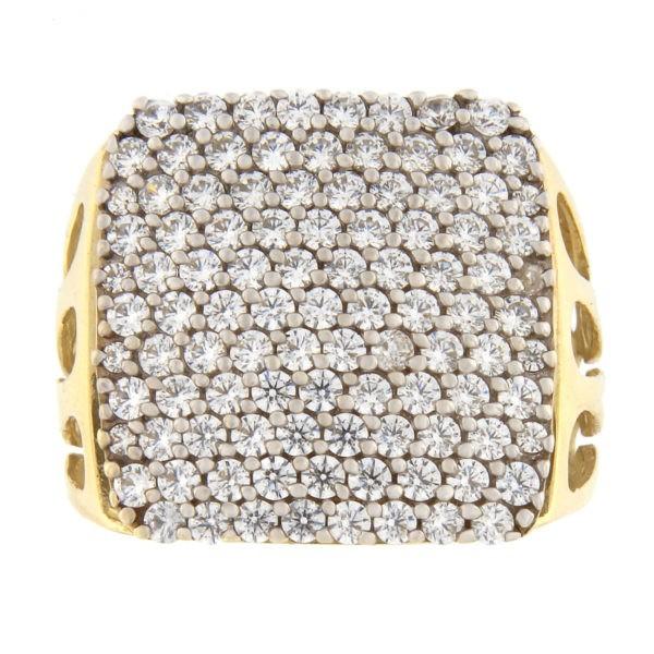 Kullast sõrmus tsirkoonidega Kood: 171wp967