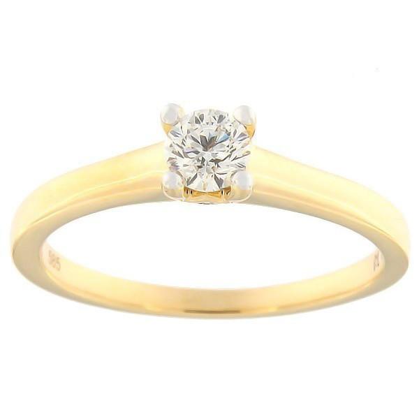 Kullast sõrmus teemantiga 0,30 ct. Kood: 173ak