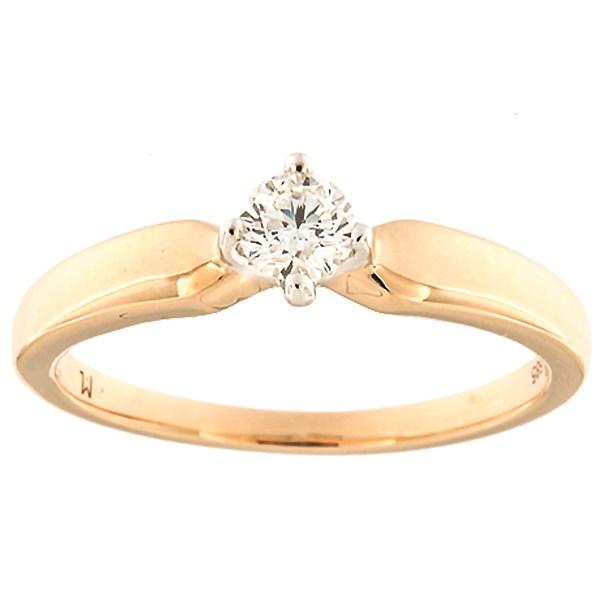 Kullast sõrmus teemantiga 0,24 ct. Kood: 180ak